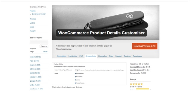 How to customize product details on single product page in