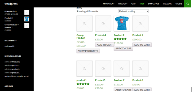 default-Woocommerce-product-page