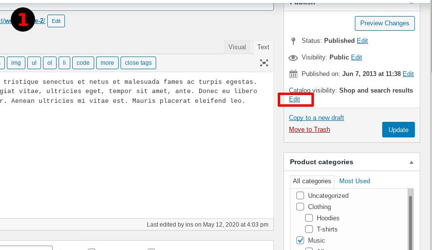 Screenshot - Edit Catalogue Visibility