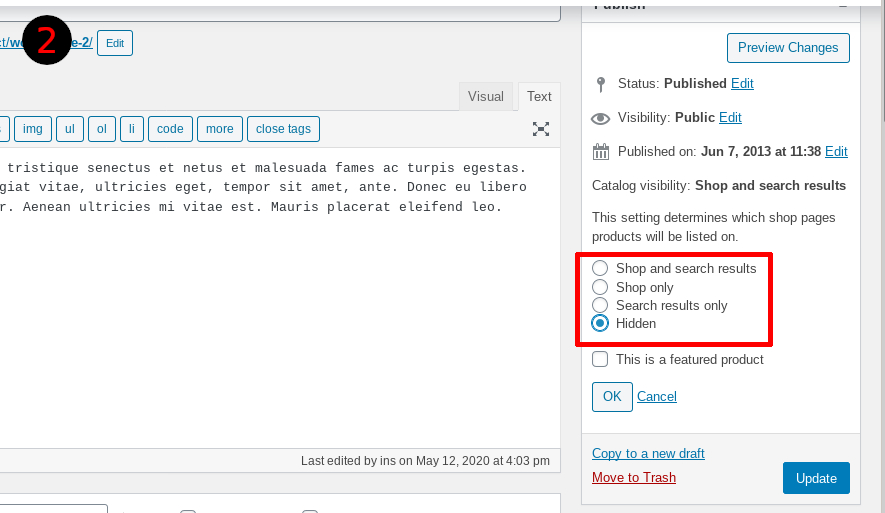 "Screenshot - set visibility to ""hidden"""