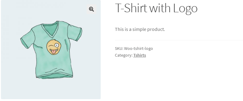 screenshot of product without price