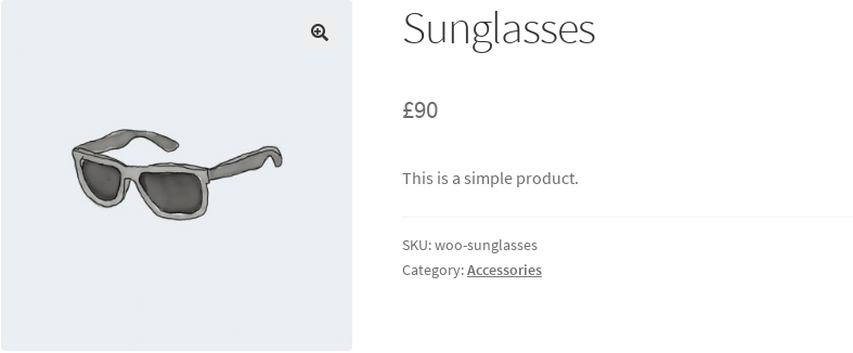 screenshot of not purchasable product single page