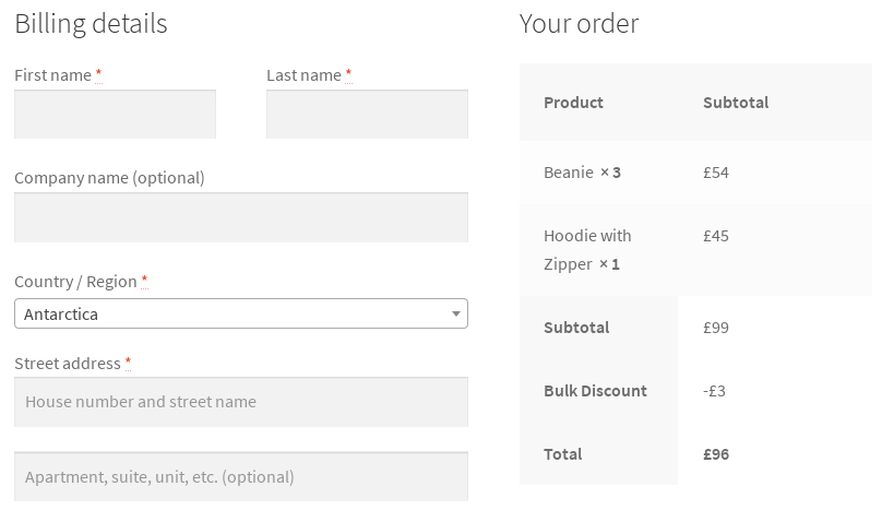 checkout category filter